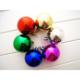 Elitparti Yılbaşı Ağacı Süsleme Topları (Karışık renkli 12 Adet 4cm çapında)