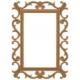 Masifart 8157 Yeni İkon Ayna Cilasız Ahşap