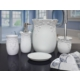 Byselim Desen Mat Beyaz Polyester Banyo Seti