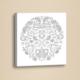 Uğur Böceği Mandala Boyama Deri Tablo BOY053
