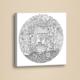 Kuyu Mandala Boyama Deri Tablo BOY054