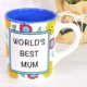 Porselen Kupa Worlds Best Mum