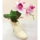 Topuklu Ayakkabı Tasarımlı Çiçekli Vazo