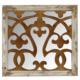 Wenge Home Masif Mango Wood Ayna 66x4x63 Cm