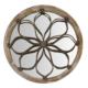 Wenge Home Masif Mango Wood Ayna 67x6.5x67 Cm