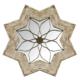 Wenge Home Masif Mango Wood Ayna 76x3.5x76 Cm