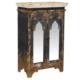 Wenge Home Masif Mango Wood Konsol 70x40x109.5 Cm
