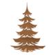 Altıncı Cadde Dekoratif Yılbaşı Çam Ağacı Bronz 17 cm