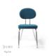Vilinze Bulut Sandalye, Mavi Flok Kumaş, Krom Ayak 4'Lü Kutu, Vilinze Tasarım Sandalyeler, Masaya Davet