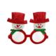 KullanAtMarket Kırmızı Simli Kardan Adam Parti Gözlük
