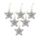 KullanAtMarket Gümüş Yıldız Ağaç Süsü 6lı 7cm