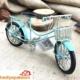 Hediye Paketim Nostaljik Metal Mavi Bisiklet