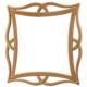 Masifart 8174 Dekupeli Ayna Cilasız Ahşap