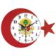 Galaxy Osmanlı Tuğralı Ay Yıldız Duvar Saati