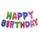 Tahtakale Toptancısı Happy Birthday Folyo Balon Altın/Gümüş/Renkli