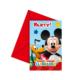 Tahtakale Toptancısı Mickey Mause Parti Davetiyesi (6 Adet)