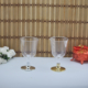 Tahtakale Toptancısı Şarap Kadehi Plastik Altın/Gümüş Ayaklı (6 Adet)