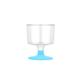 Tahtakale Toptancısı Ayaklı Shot Bardağı Plastik Kadeh (6 Adet)