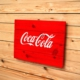 Oldwooddesign Retro Coca Cola Tablo