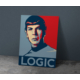 Javvuz Mr. Spock Logic - Dekoratif Metal Poster
