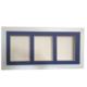 Küçük İzler Beyaz Resimli, 3 Bölmeli Çerçeve ( 25X55 Cm )