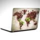 Dekolata Kahve Dünya Haritası Laptop Sticker