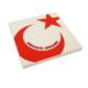 Purupa Hakimiyet Milletindir Ay Yıldız Taş Baskı Obje