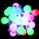 Pratik Büyük Top 20 Ledli Dolama Dekor Işıkları (RGB 5m.)