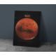 Javvuz Gezegen Mars - Dekoratif Metal Plaka