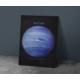 Javvuz Gezegen Neptün - Dekoratif Metal Plaka
