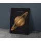 Javvuz Gezegen Satürn - Dekoratif Metal Plaka
