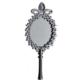 Tahtakale Toptancısı Ayna Oval Taşlı Plastik Metalize Gümüş (20 Adet)