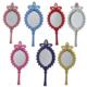 Tahtakale Toptancısı Ayna Oval Taşlı Plastik Renkli (20 Adet)