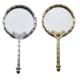 Tahtakale Toptancısı Ayna Yuvarlak Kelebekli Plastik Metalize Altın/Gümüş (20 Adet)
