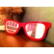 Derins Tasarım - Gözlük Ayna - Kırmızı Küçük Boy
