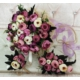 Smartevim Gelin Buketi Soft Şakayık Taç Yaka Çiçeği Hediye Doğal Keten Tül