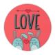 Myros Aşk Temalı Bardak Altlığı
