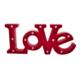 LoveQ Pano Ledli Love Kırmızı 48X5X21 Cm