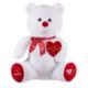 KullanAtMarket Kalpli Beyaz Ayıcık 65Cm