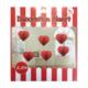 KullanAtMarket Kırmızı Kalp Petek Uzar Süs 6'Lı