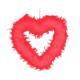 KullanAtMarket Tüy Kalp Kırmızı 44 Cm