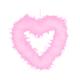 KullanAtMarket Tüy Kalp Pembe 44 Cm