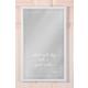 The Mia Dekoratif Ayna Smile 55 * 35 Cm - Beyaz