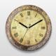 İf Dizayn Roma Rakamlı Vintage Sessiz Duvar Saati