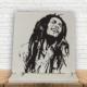KFBiMilyon Bob Marley Silüet Baskılı Doğaltaş Masa Dekoru