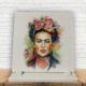 KFBiMilyon Frida Kahlo İllüstrasyon Baskılı Doğaltaş Masa Dekoru