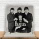 KFBiMilyon The Beatles Retro Baskılı Doğaltaş Masa Dekoru