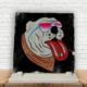 KFBiMilyon The Rolling Stones Dog Baskılı Doğaltaş Masa Dekoru