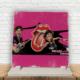 KFBiMilyon The Rolling Stones Baskılı Doğaltaş Masa Dekoru