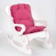 Prado Sallanan Çocuk Sandalyesi Sallanan Koltuk Minderli Pembe